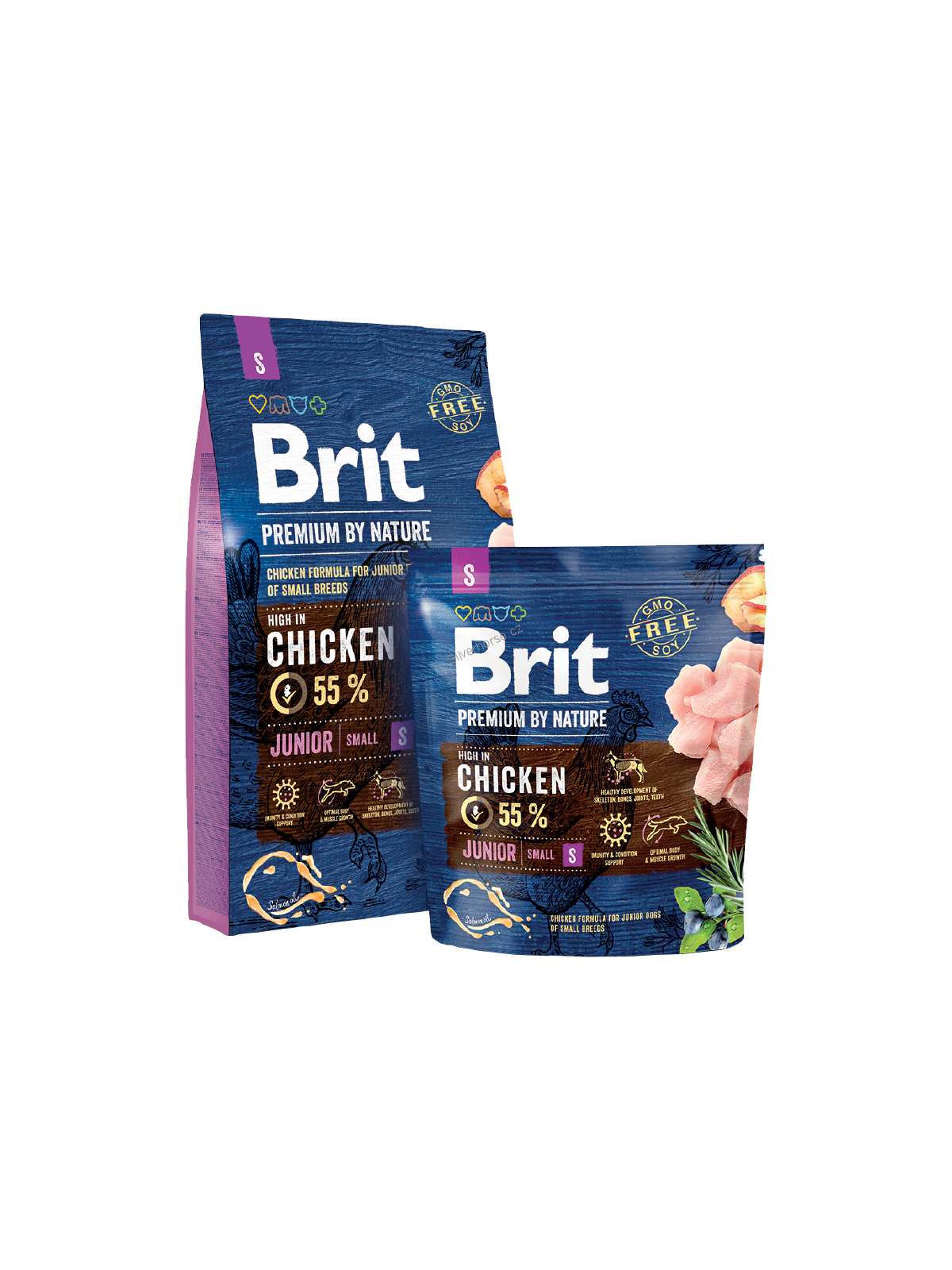 Brit Premium Dog by Nature Junior S 2 x 8kg