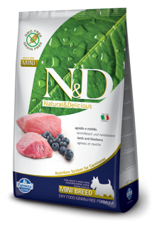 N&D GF DOG Adult Mini Lamb & Blueberry 2,5kg
