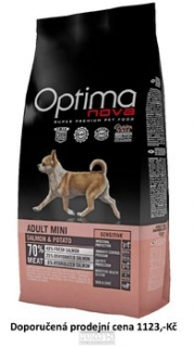 OPTIMAnova dog ADULT MINI SENSIT. GF Salmon 800g