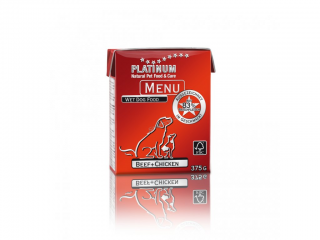 Platinum Natural Menu Beef & Chicken 375 g