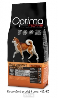OPTIMAnova dog ADULT SENSITIVE GF Salmon 2kg
